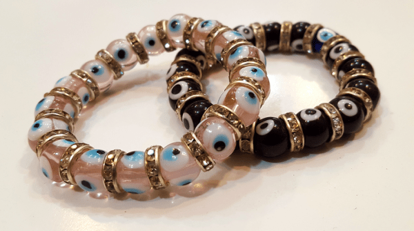 دستبند زنانه پلاستیکی طرح چشم زخم